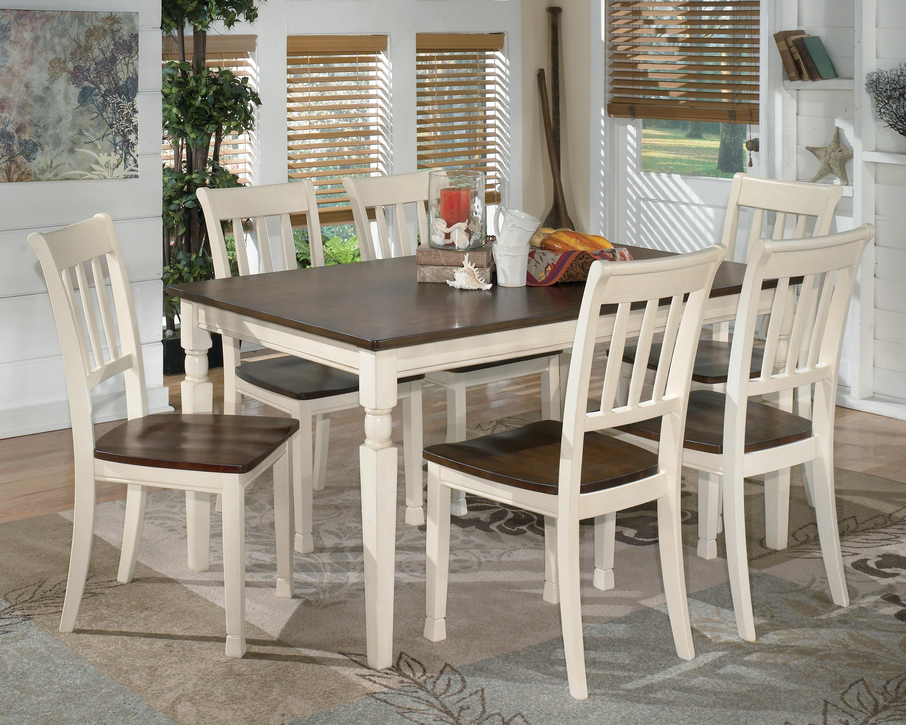 Signature Design by Ashley Whitesburg 7-Piece Rectangular Dining Table Set  sc 1 st  Wayside Furniture & Signature Design by Ashley Whitesburg 7-Piece Rectangular Dining ...
