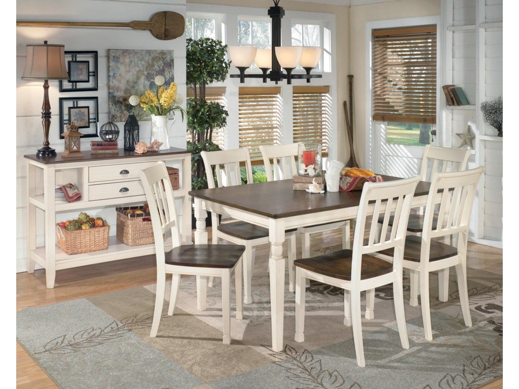 Signature Design by Ashley Whitesburg7-Piece Rectangular Dining Table Set