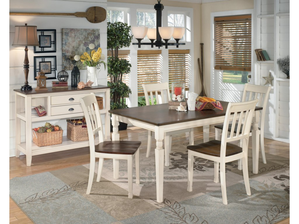 Whitesburg D583 25 Rectangular Dining Room Table By Signature Design Ashley