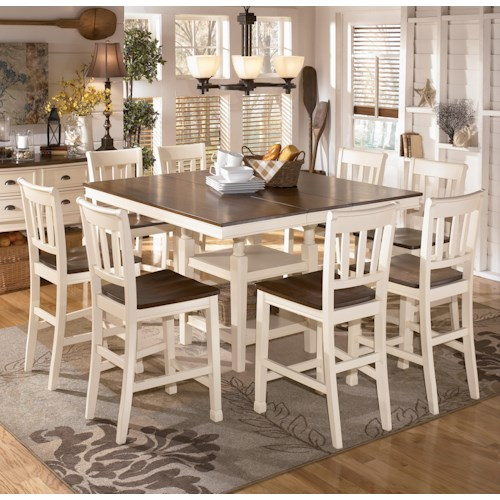 Ashley Furniture Metairie: Signature Design By Ashley Whitesburg 9-Piece Square