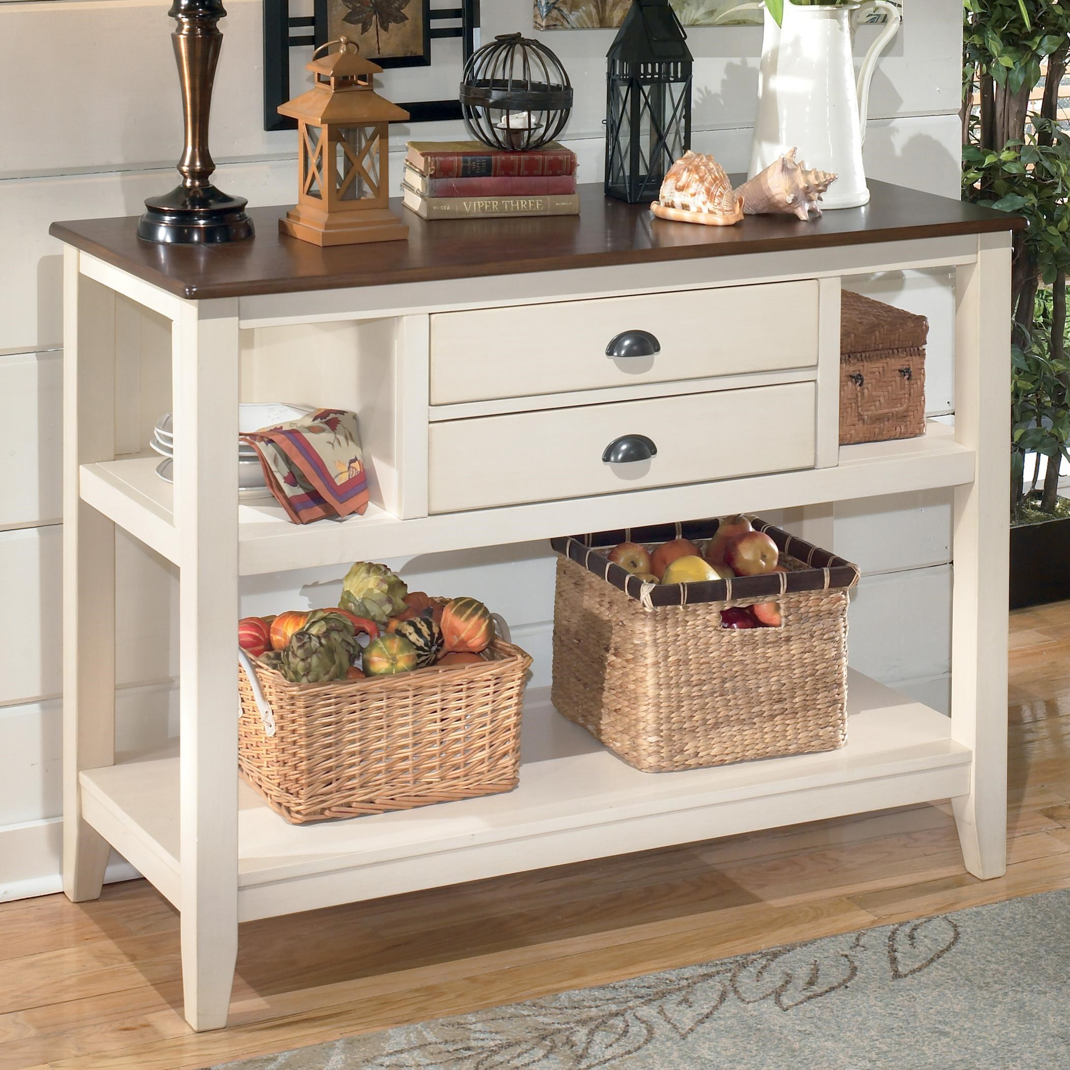 signature designashley whitney two-tone dining room server