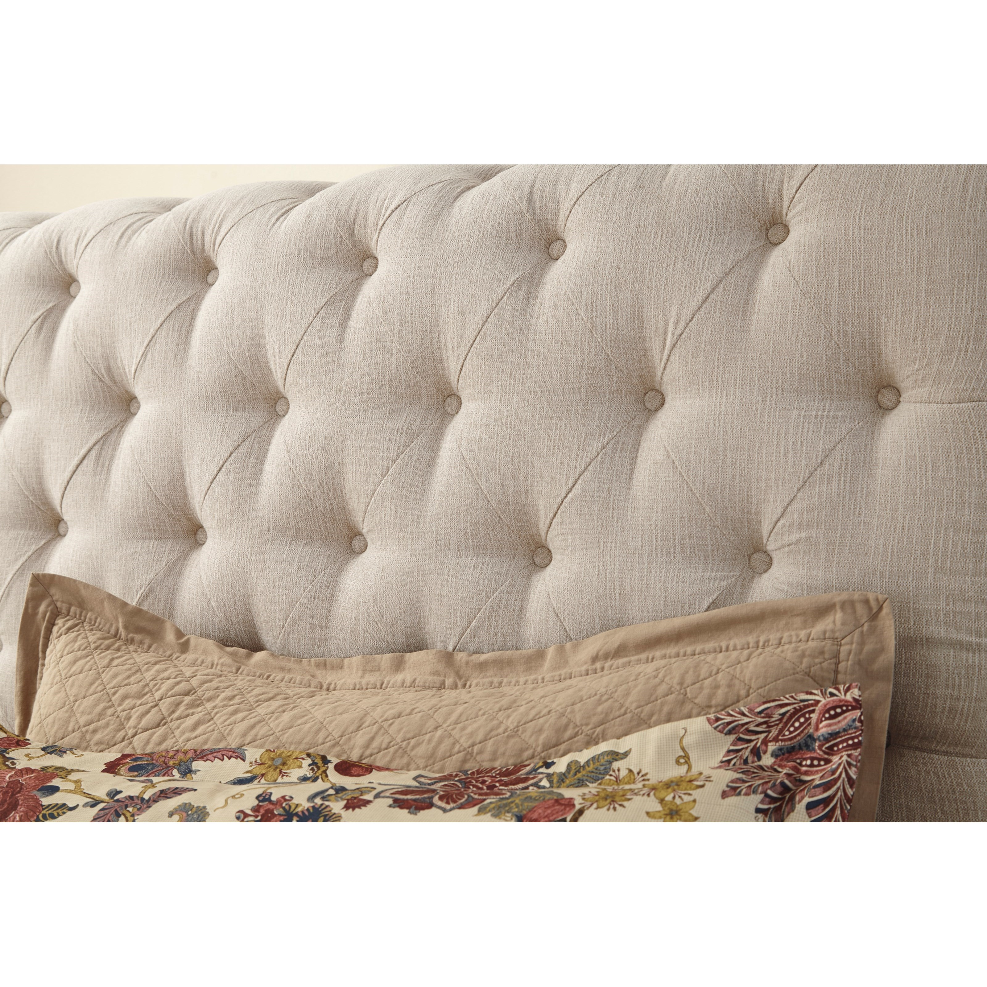 willenburg king upholstered sleigh bed with tufting by signature design by ashley