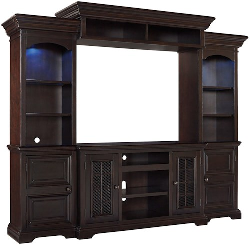 Signature Design by Ashley Willenburg 4-Piece Entertainment Center