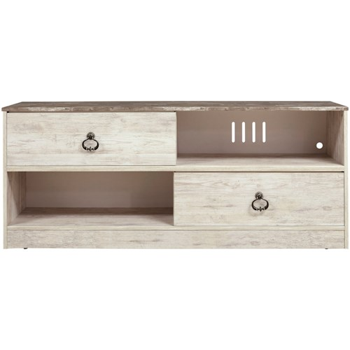 Signature Design by Ashley Willowton Coastal Cottage Large TV Stand