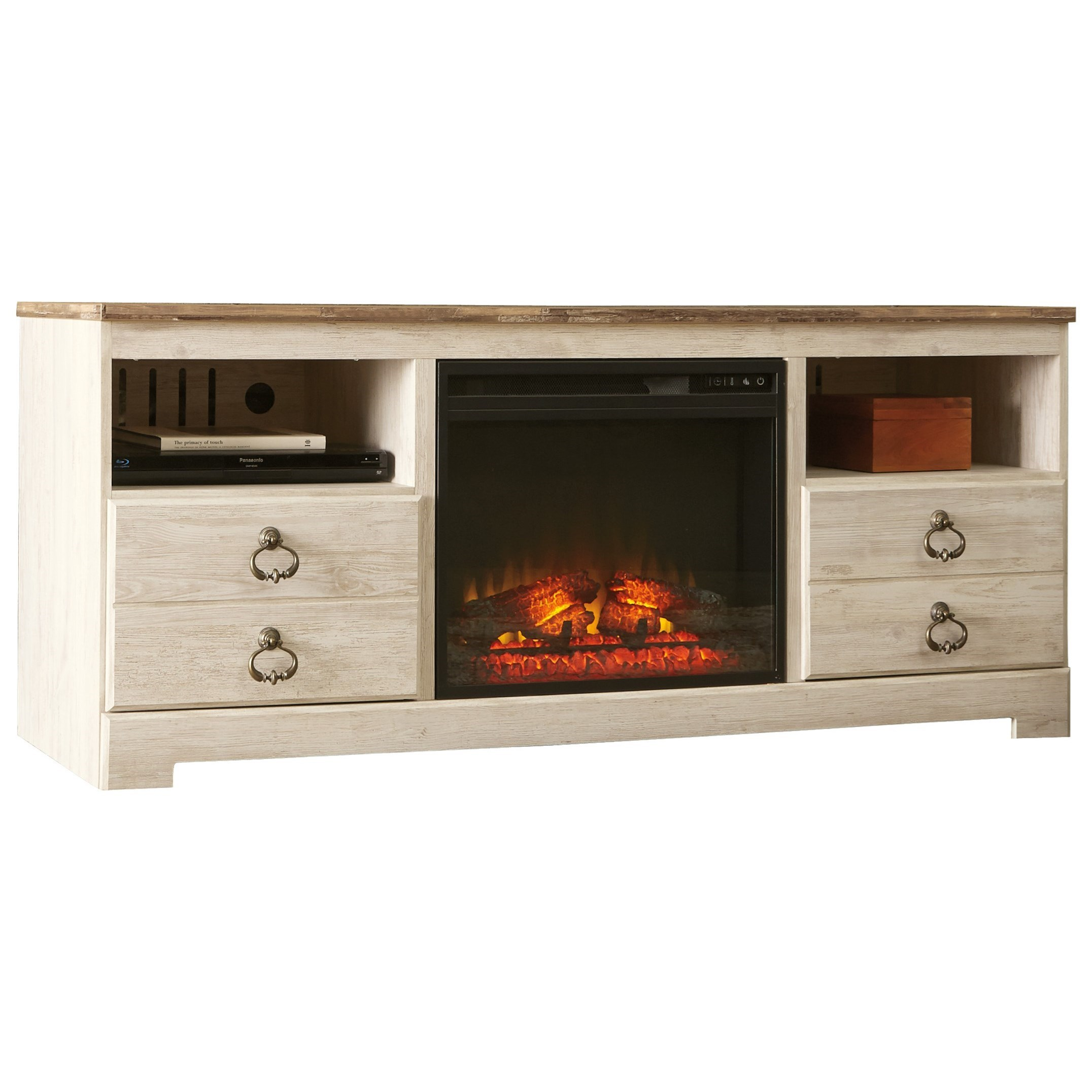 Signature Design by Ashley Willowton Two-Tone Large TV Stand with ...