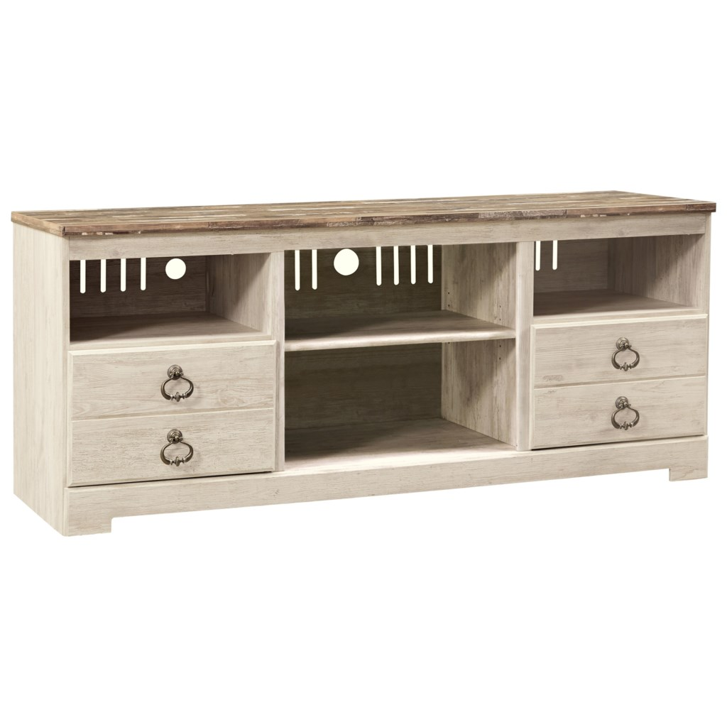 Signature Design By Ashley Willowton Two Tone Large Tv Stand Royal