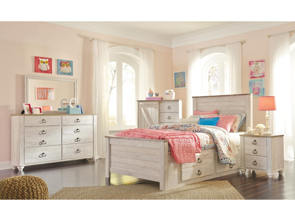 Signature Design by Ashley WillowtonTwin Storage Bed Package