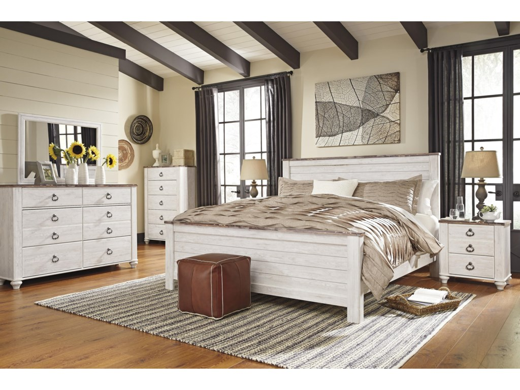 Signature Design by Ashley WillowtonQueen Panel Bed Package