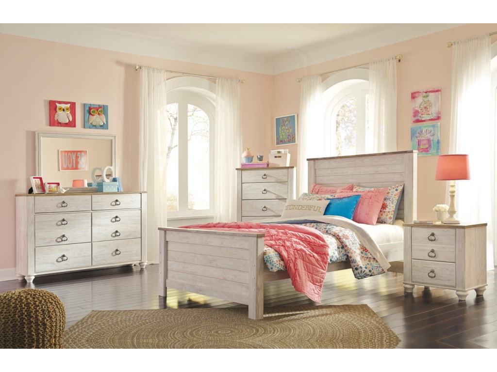 Signature Design by Ashley WillowtonTwin Panel Bed Headboard Package