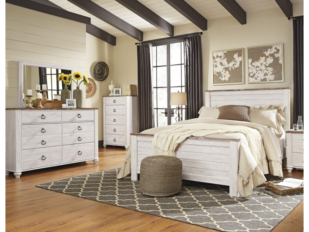Signature Design By Ashley Willowton Queen 5 Piece Bedroom Group Royal Furniture Bedroom Groups