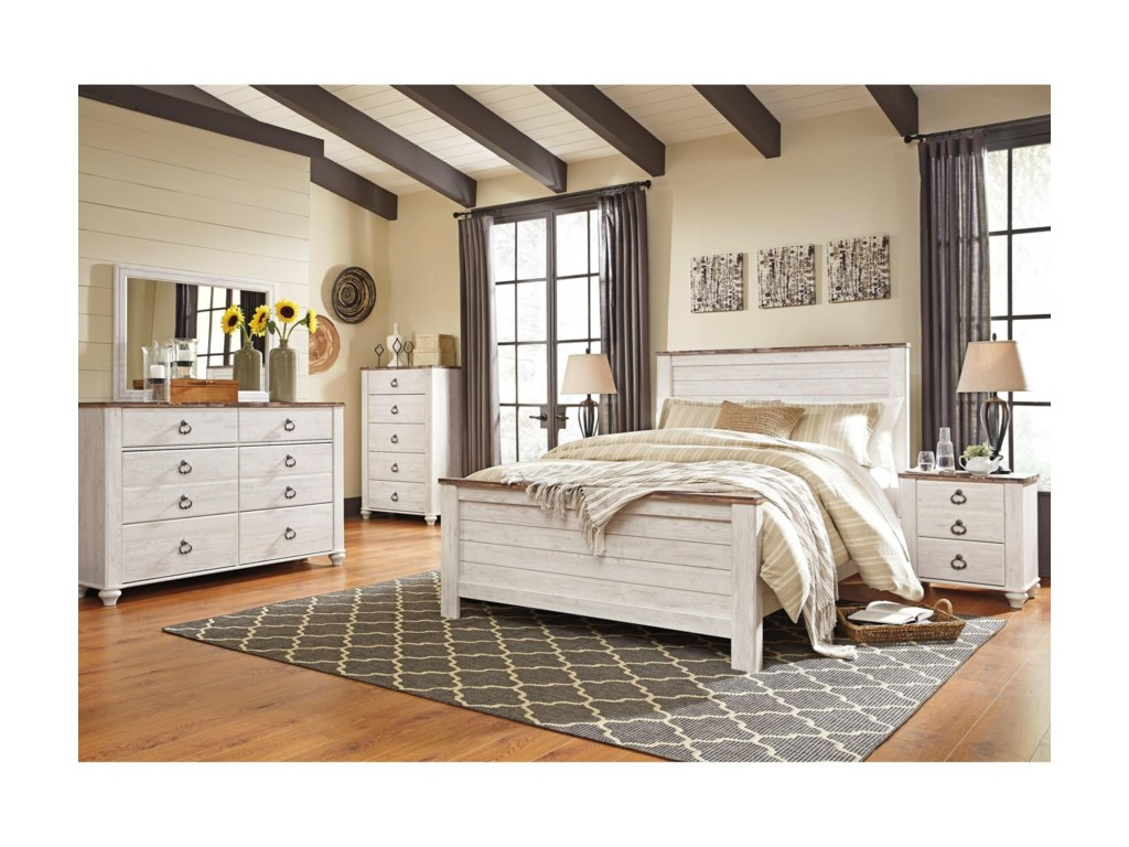 cal pc set or dp birlanny ashley kitchen queen king com bedroom panel amazon dining mirrored