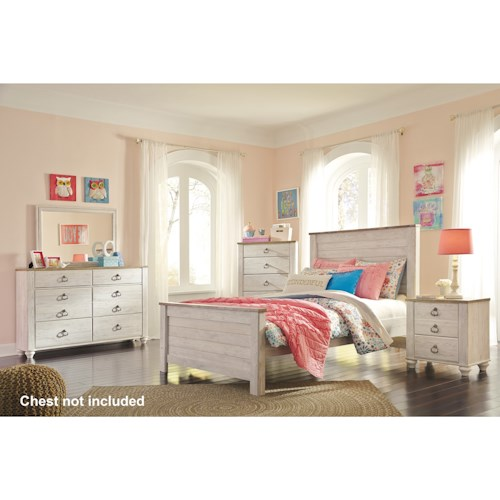 Signature Design by Ashley Willowton Full Bedroom Group