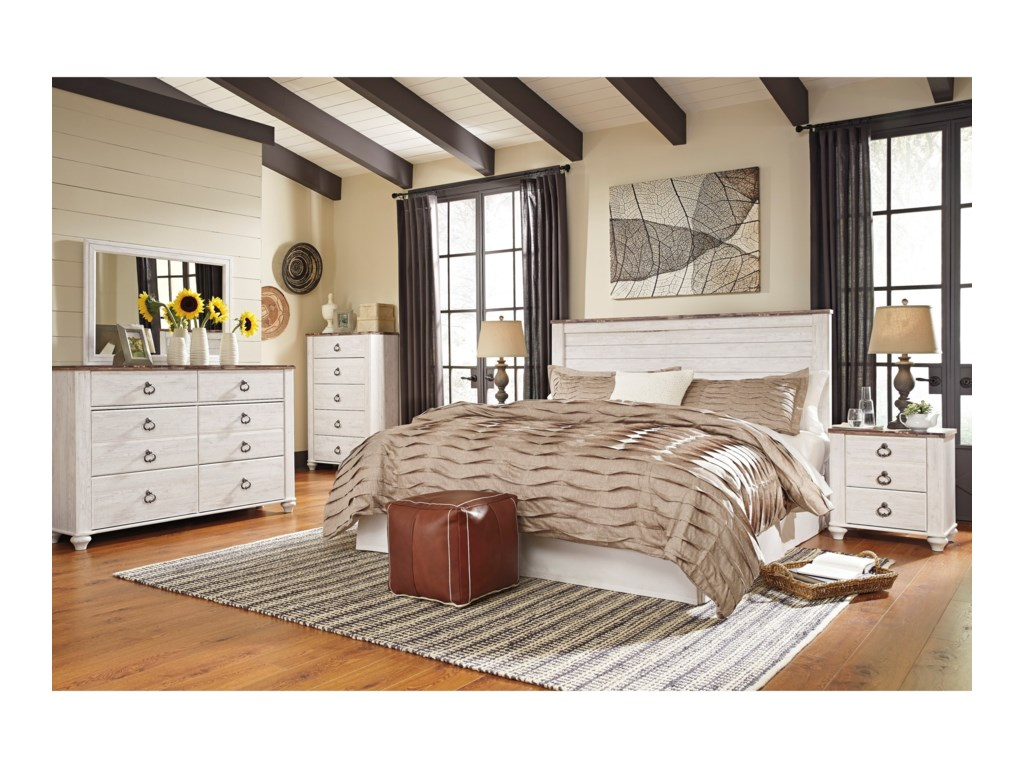 Signature Design by Ashley WillowtonKing/California King Bedroom Group