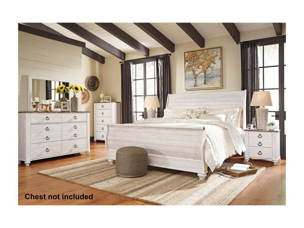 Ashley (Signature Design) WillowtonKing Bedroom Group