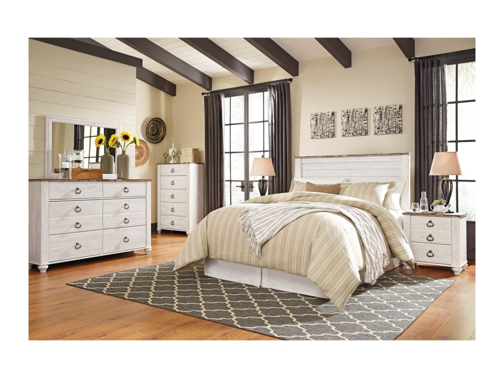 Signature Design by Ashley WillowtonQueen/Full Bedroom Group