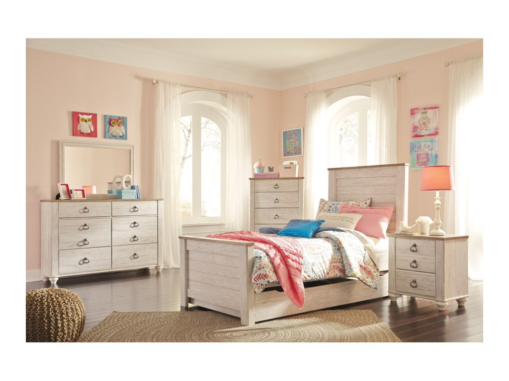 Ashley (Signature Design) WillowtonTwin Bedroom Group