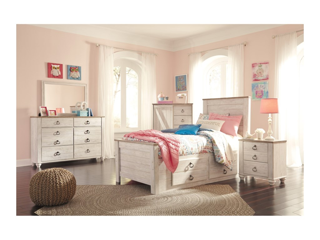 Benchcraft WillowtonTwin Bedroom Group