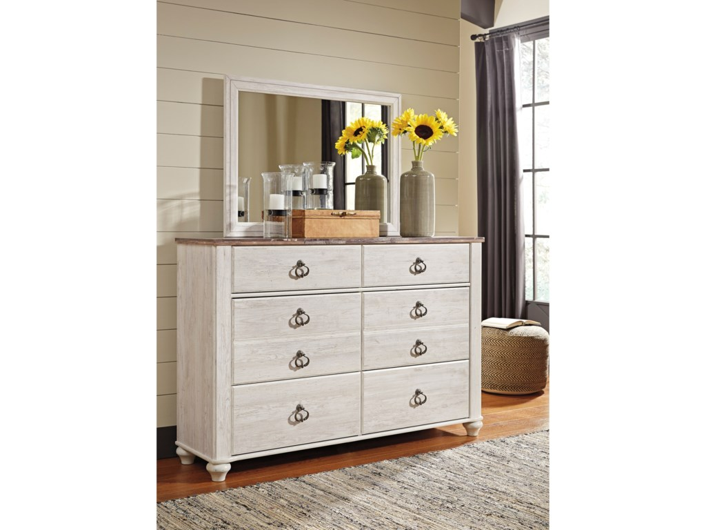 Ashley (Signature Design) WillowtonDresser & Mirror