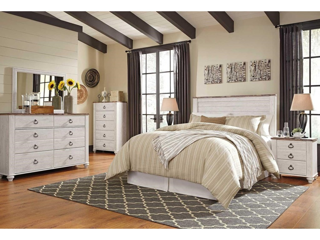 Signature Design by Ashley Willow4PC Queen Bedroom Set
