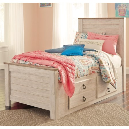 Twin Bed with Underbed Storage Drawers