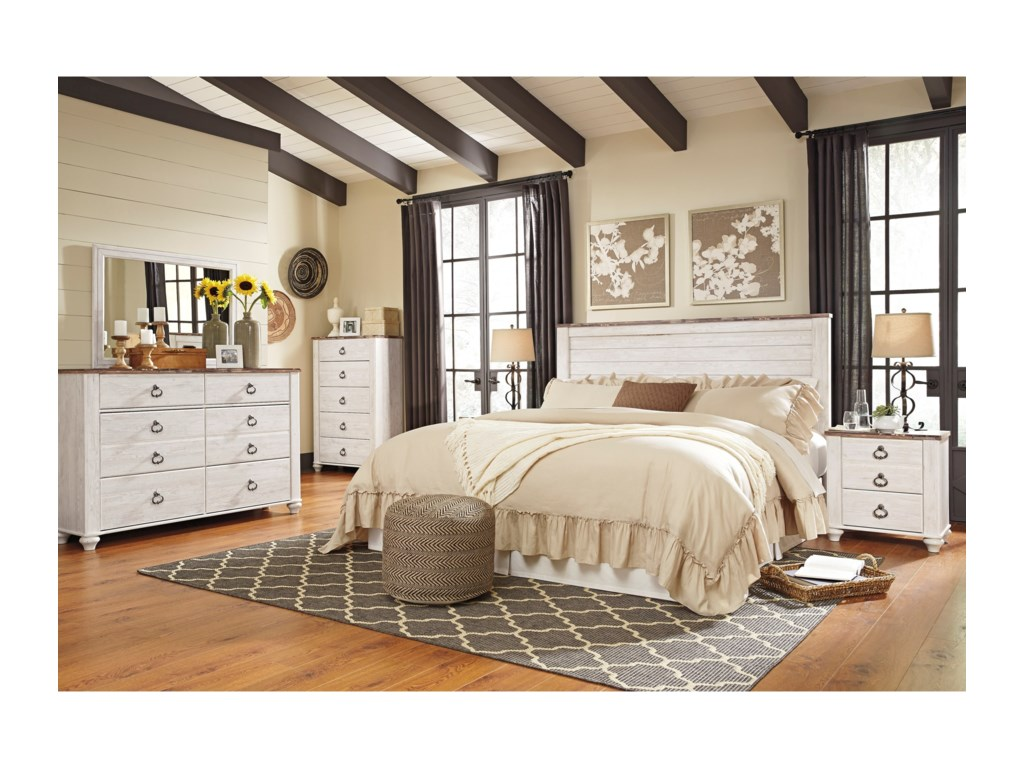 Ashley (Signature Design) WillowtonQueen/Full Panel Headboard