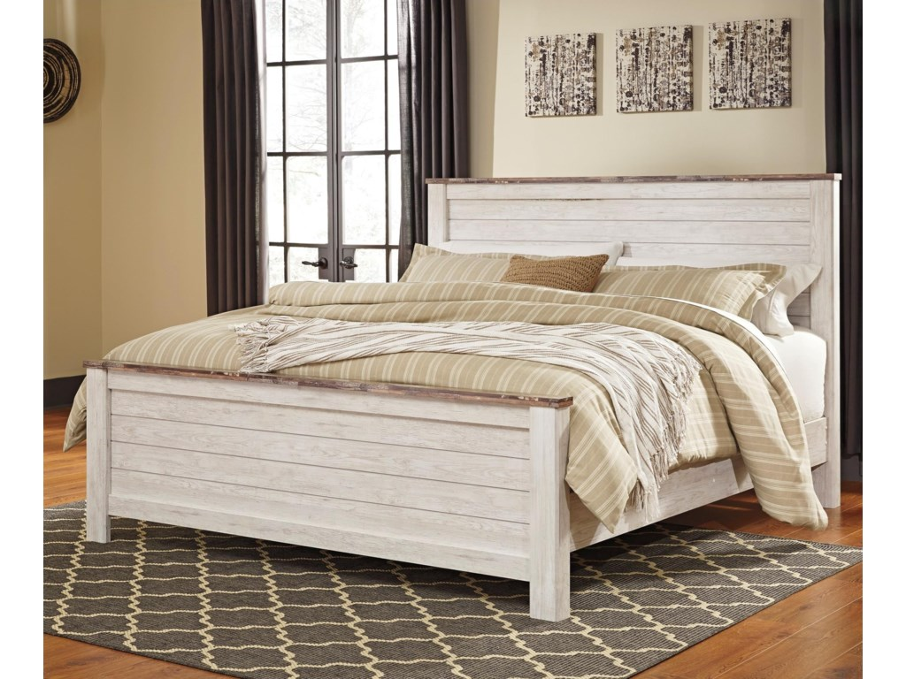 Signature Design by Ashley JoannaKing Panel Bed