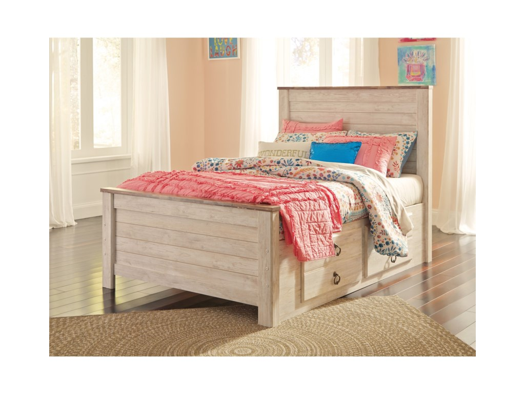 Ashley Signature Design WillowtonFull Bed with Underbed Storage Drawers