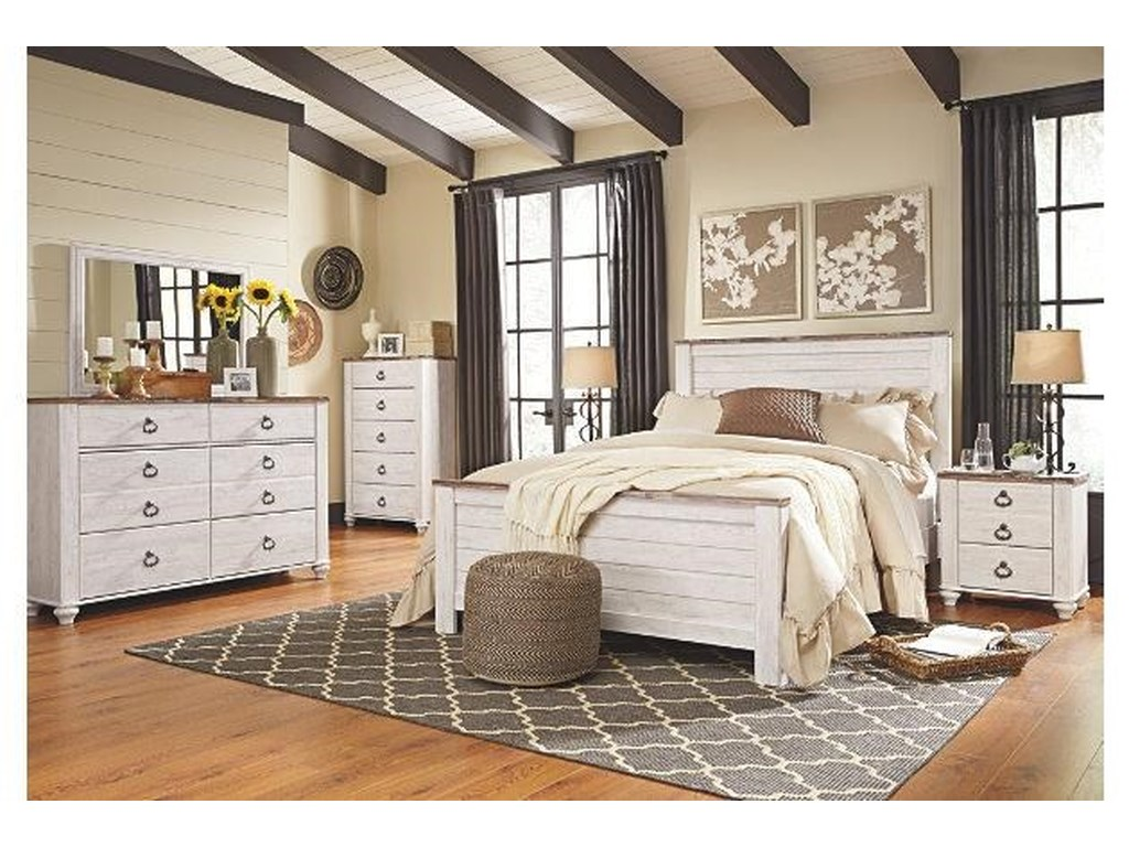 Signature Design by Ashley WillowtonQueen Bedroom Group 1