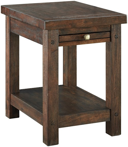 Signature Design by Ashley Windville Chair Side End Table with Pull-Out Tray