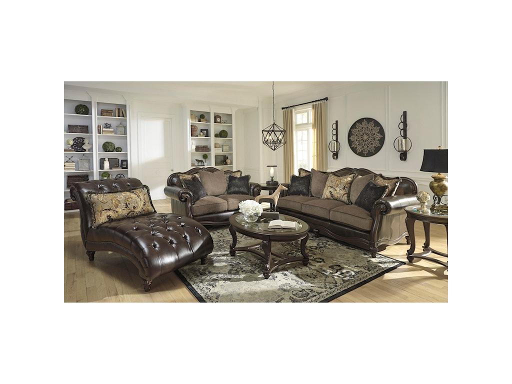 Signature Design by Ashley Winnsboro DuraBlendStationary Living Room Group