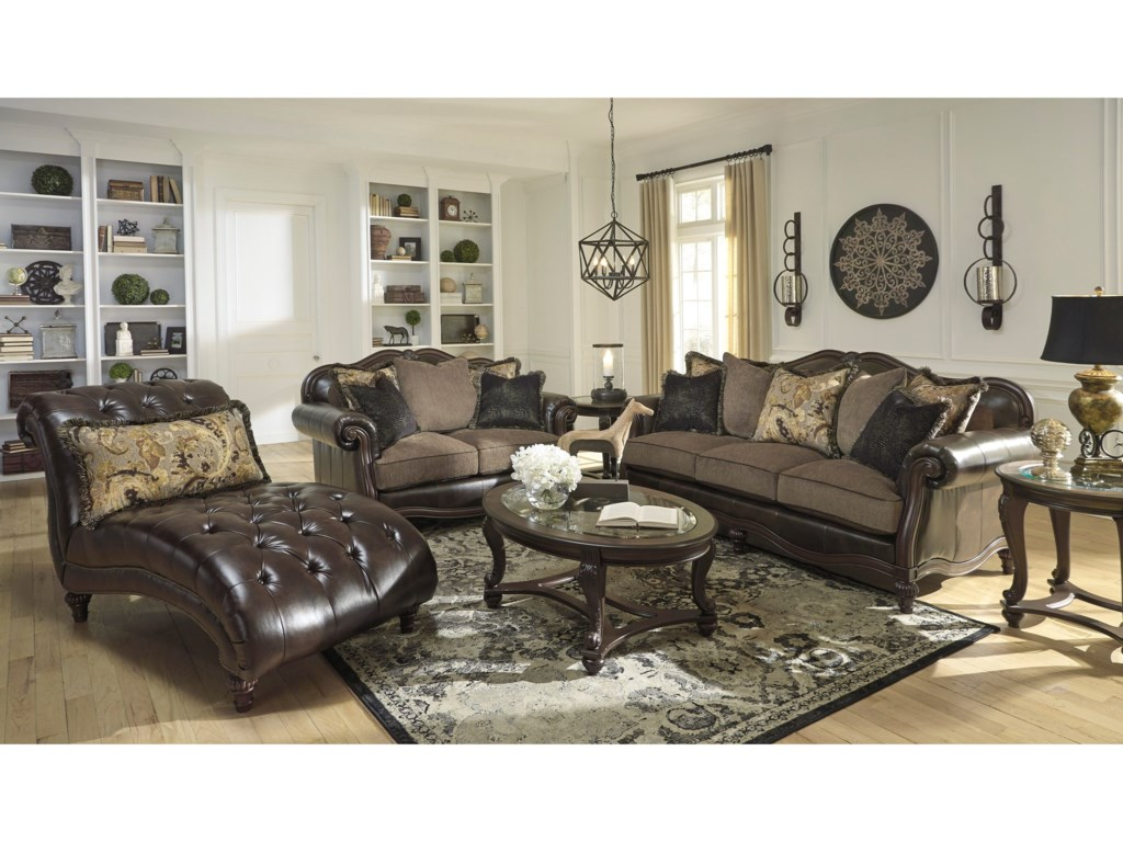 Signature Design by Ashley Winnsboro DuraBlend Stationary Living Room Group  Household Furniture Groups