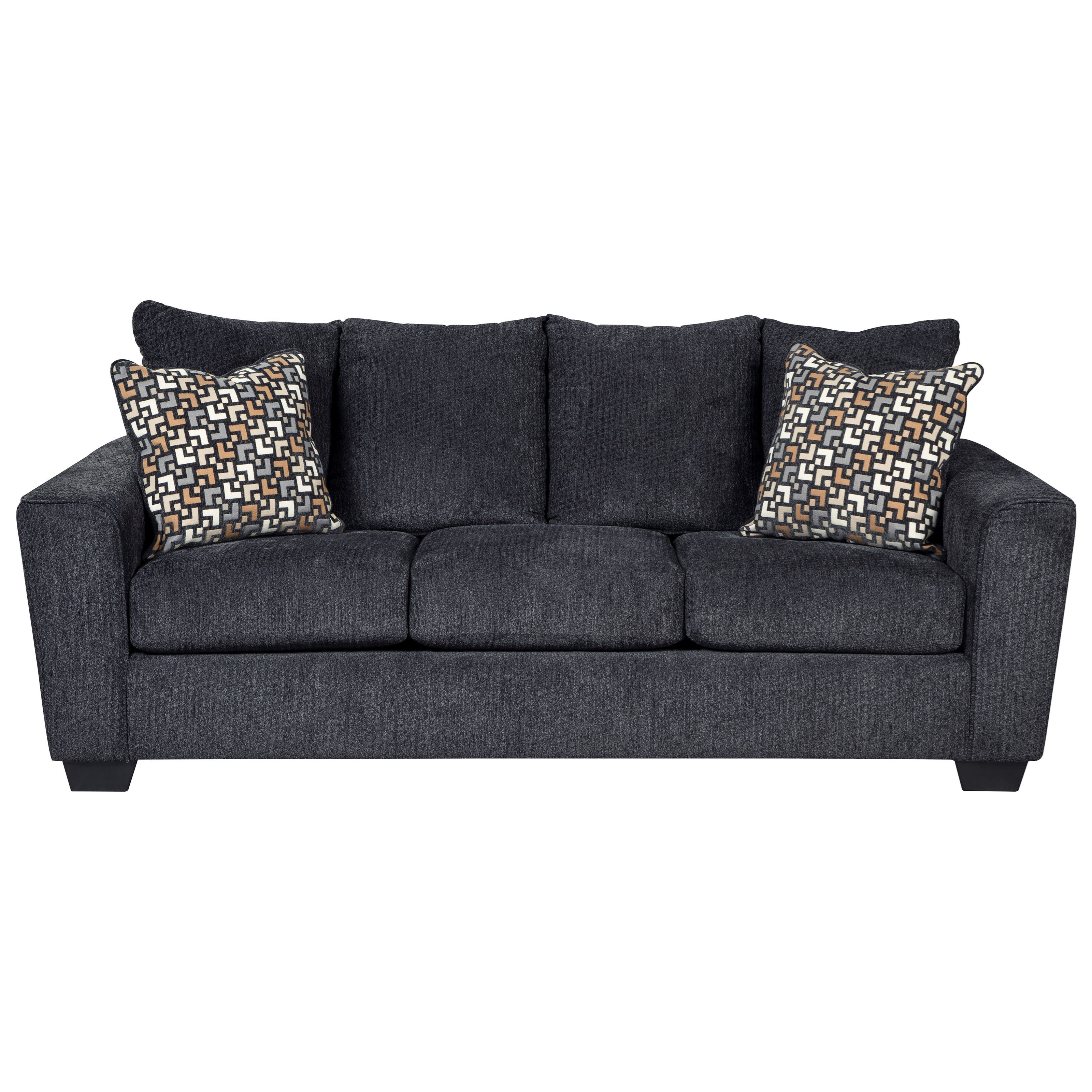 benchcraft wixon sofa with rounded track arms value city furniture rh valuecitynj com value city furniture clearance sofas value city furniture sofa tables