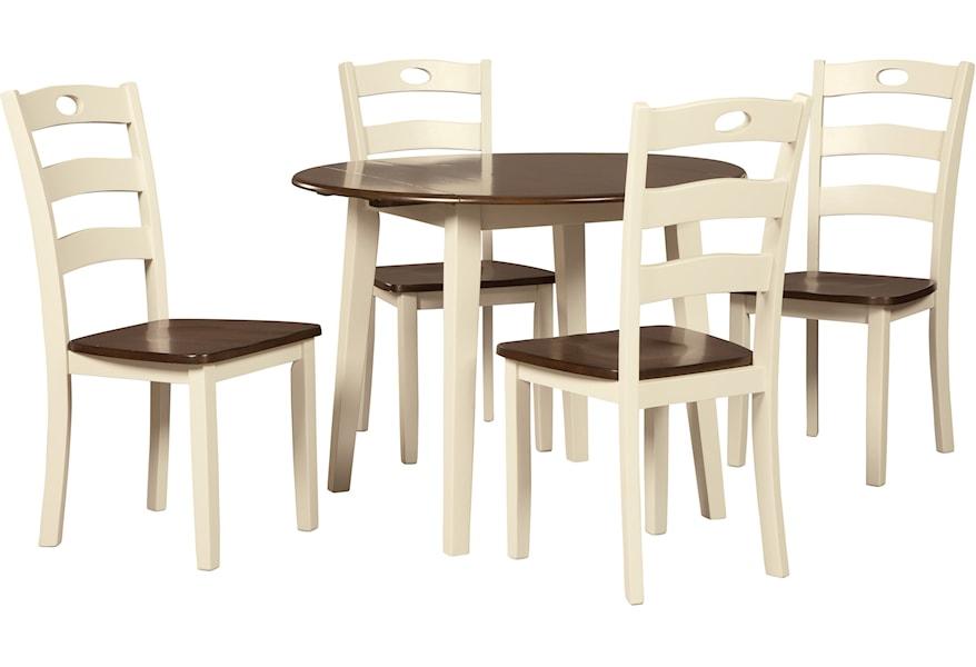 Woodanville 5-Piece Round Drop Leaf Table Set