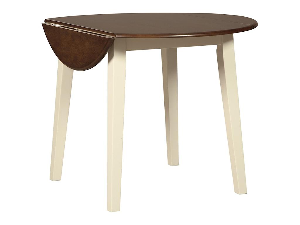 Ashley (Signature Design) Woodanville5-Piece Round Drop Leaf Table Set