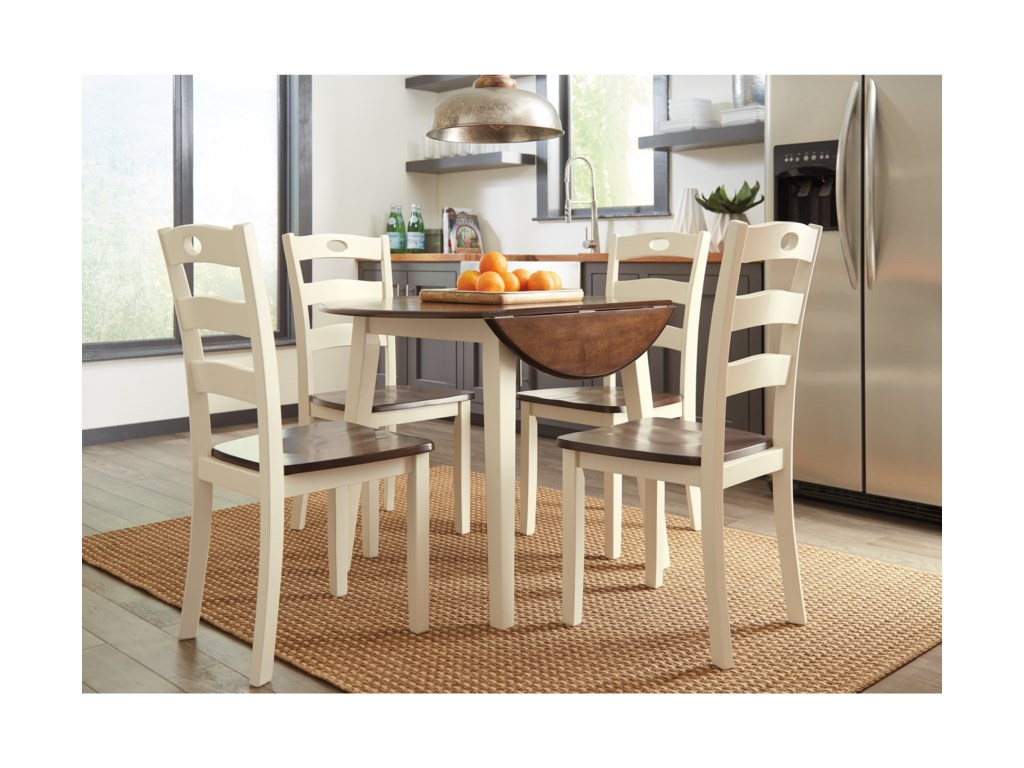 Signature Design by Ashley Woodanville5-Piece Round Drop Leaf Table Set