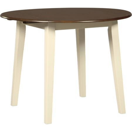 Round Dining Room Drop Leaf Table
