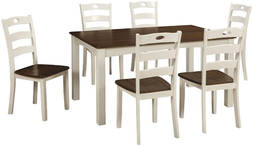 Signature Design By Ashley Woodanville D335-425 7-Piece Dining Room Table Set