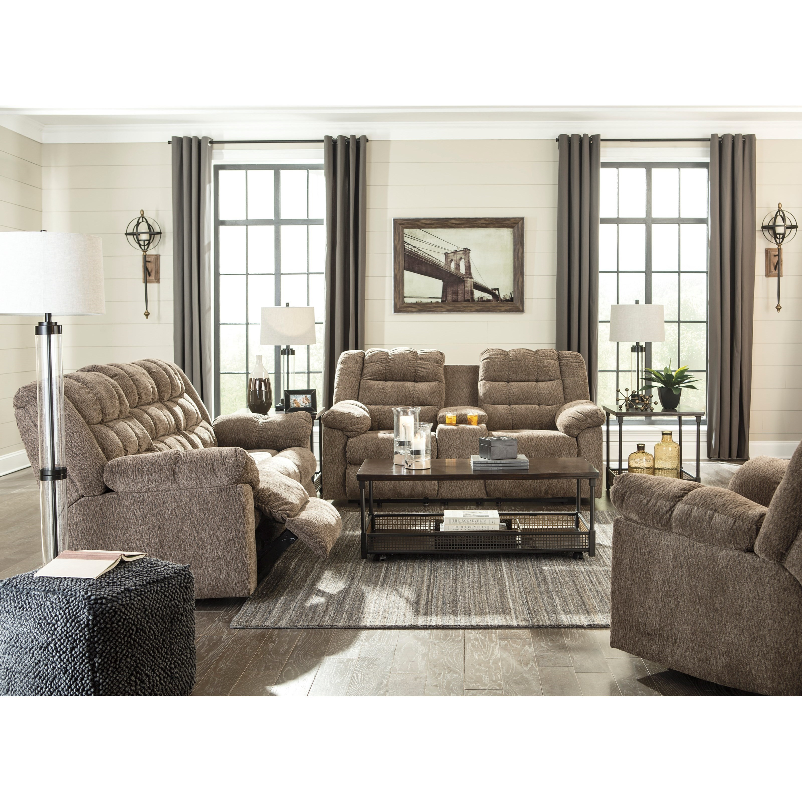 Good Signature Design By Ashley Workhorse Reclining Living Room Group Pictures
