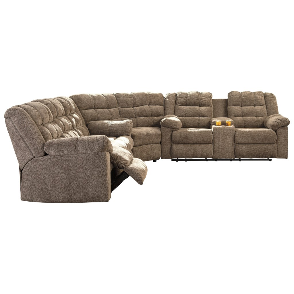 Ashley Signature Design Workhorse 3 Piece Sectional with Wedge