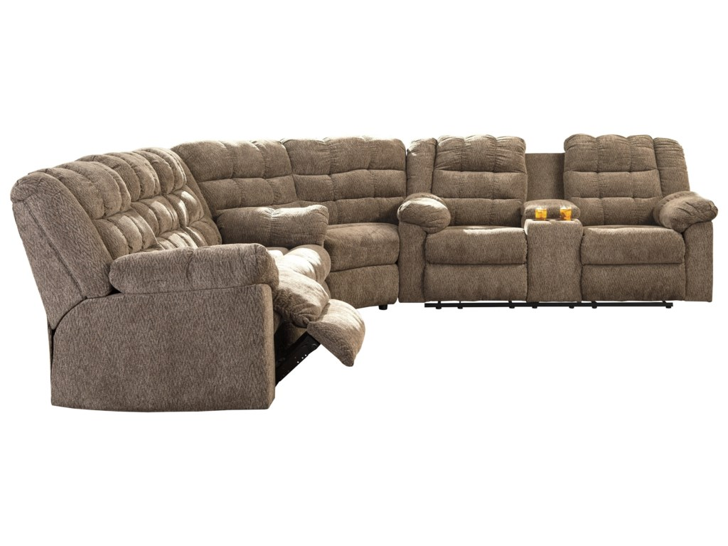 Signature Design By Ashley Workhorse3 Piece Sectional With Wedge