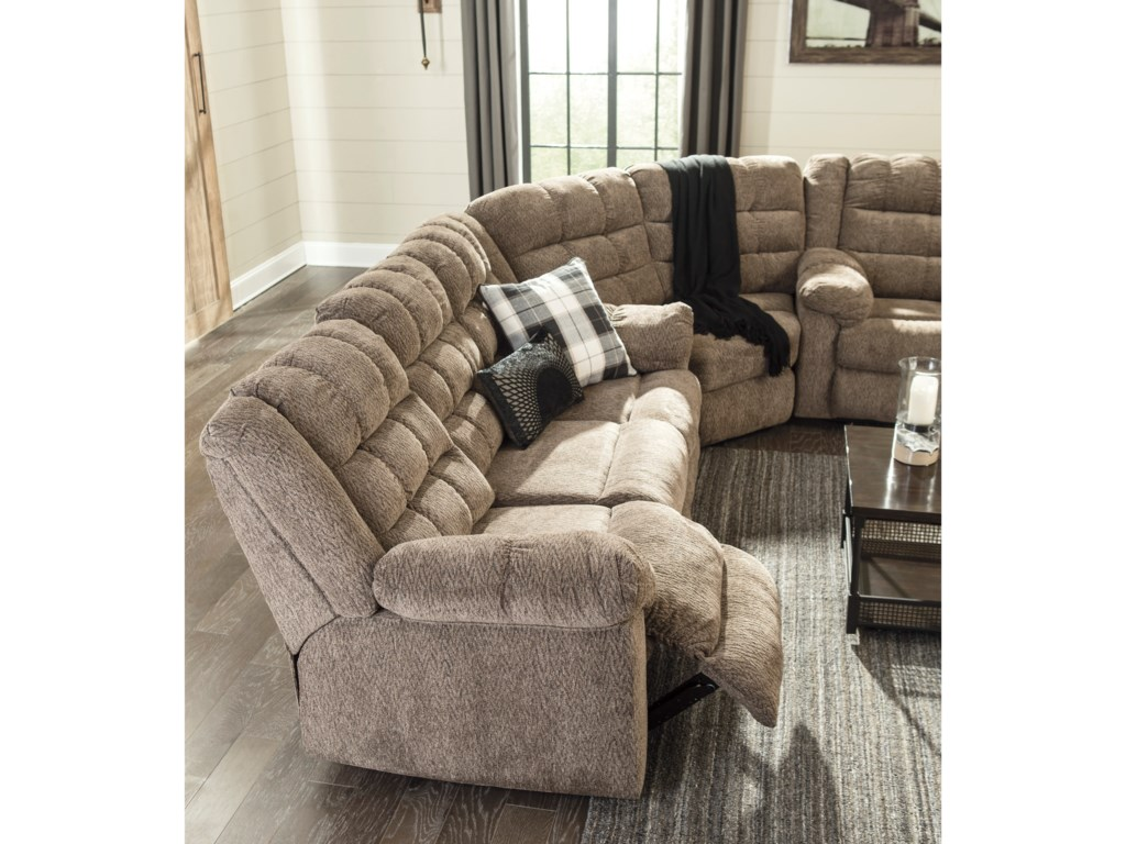 Signature Design by Ashley Workhorse3-Piece Sectional with Wedge