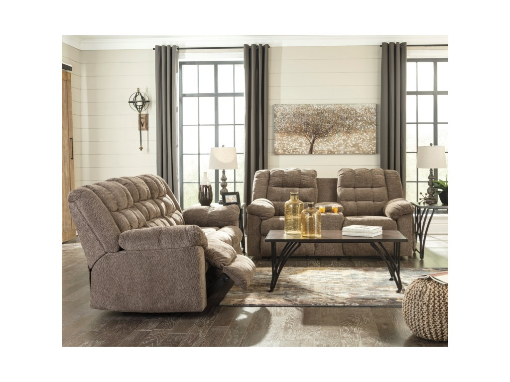 Signature Design by Ashley WorkhorseReclining Sofa