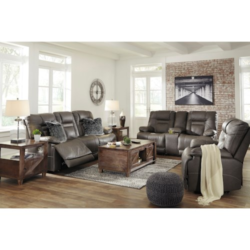 Signature Design by Ashley Wurstrow Reclining Living Room Group