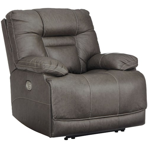 Signature Design by Ashley Wurstrow Power Recliner with Power Headrest and USB Port