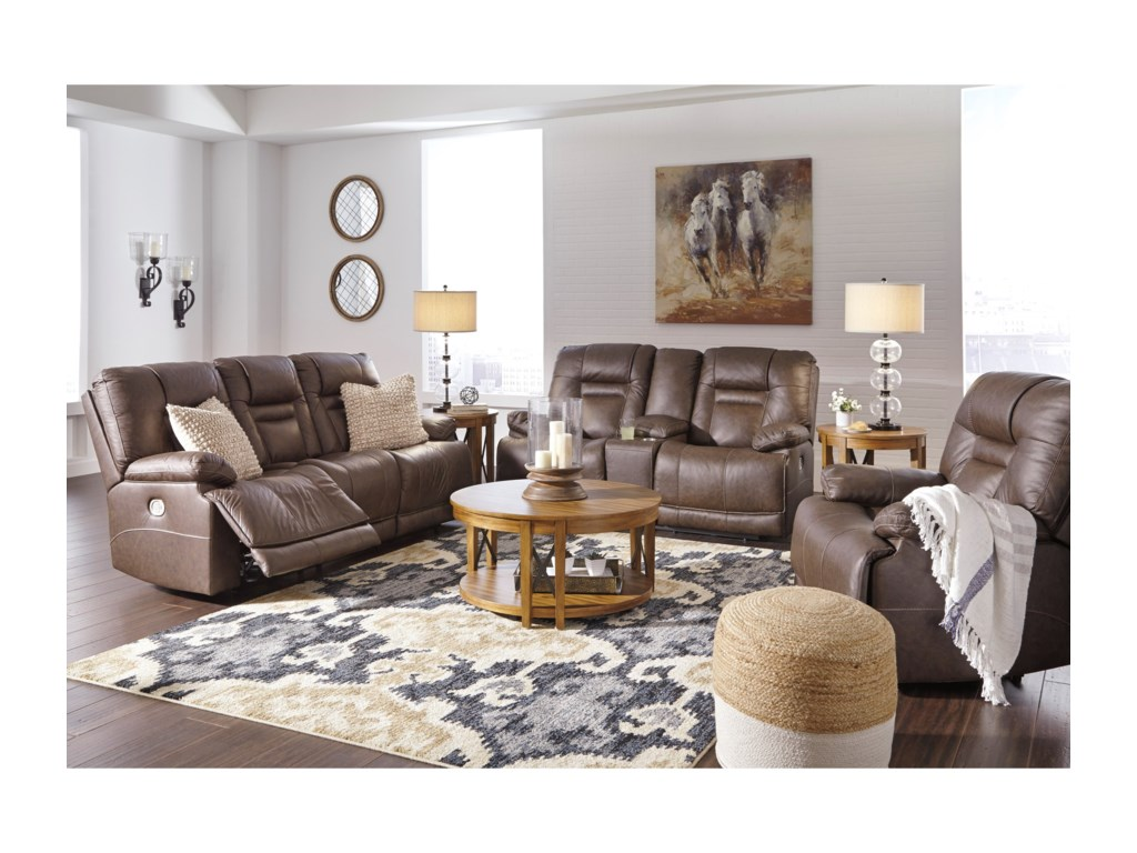 Ashley Signature Design WurstrowReclining Living Room Group