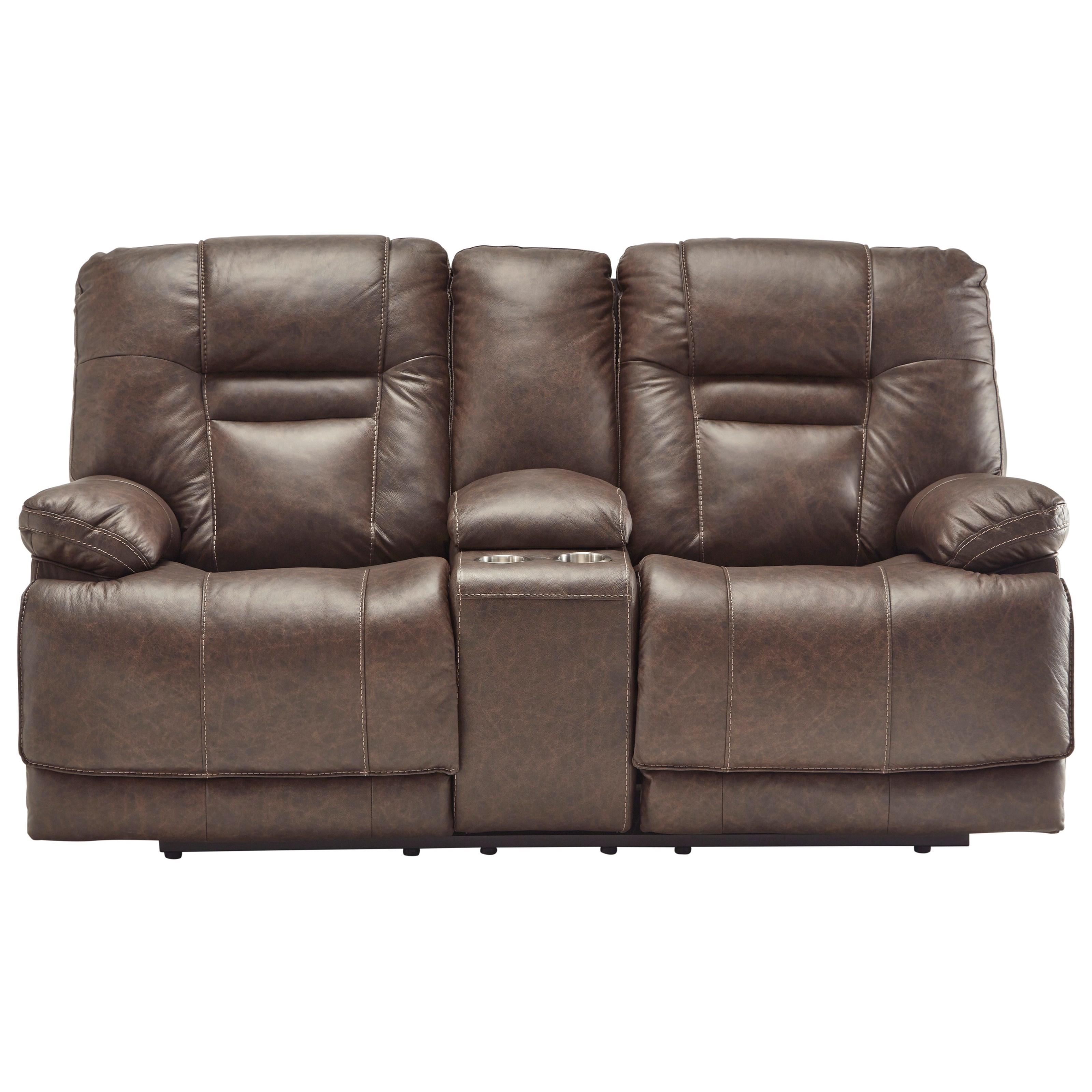 PWR Headrest/PWR Lumbar/PWR Reclining Leather Leather Loveseat