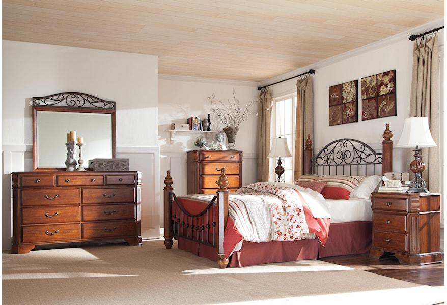 Ashley Furniture Signature Design Wyatt Nine Drawer Dresser And Picture Frame Mirror Del Sol Furniture Dresser Mirror Sets
