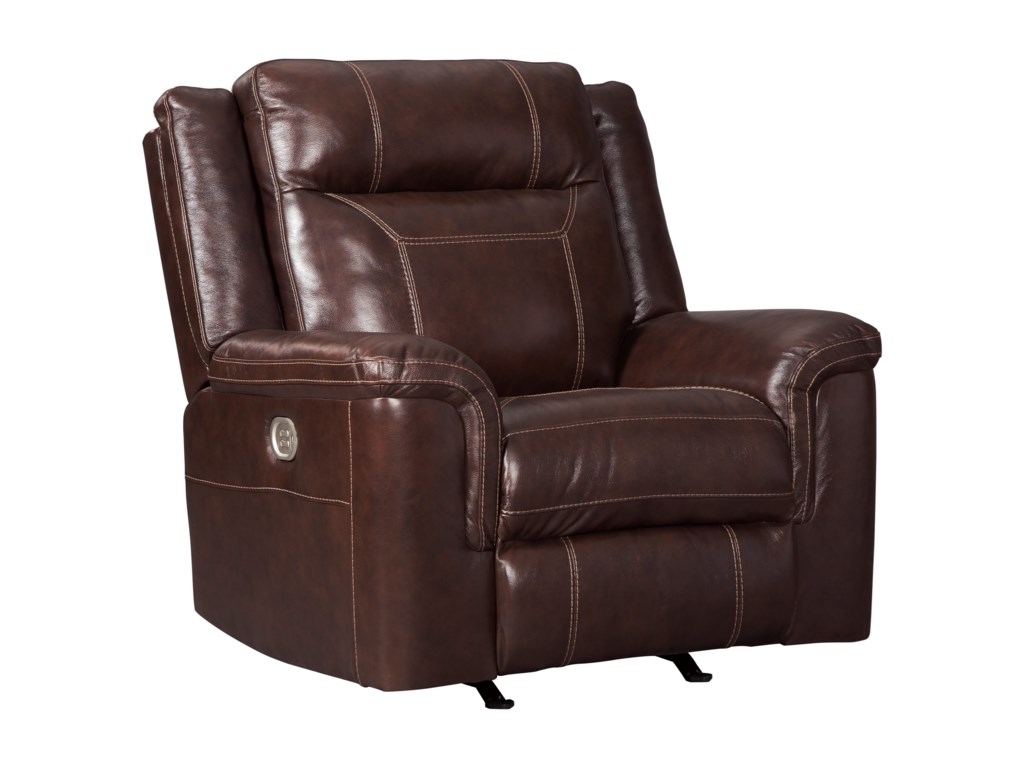 Signature Design by Ashley WylinePower Recliner with Adjustable Headrest