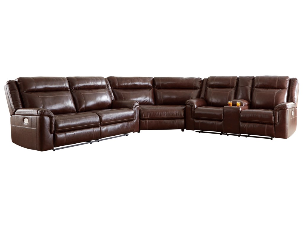Signature Design by Ashley Wyline 3 Piece Power Reclining Sectional ...