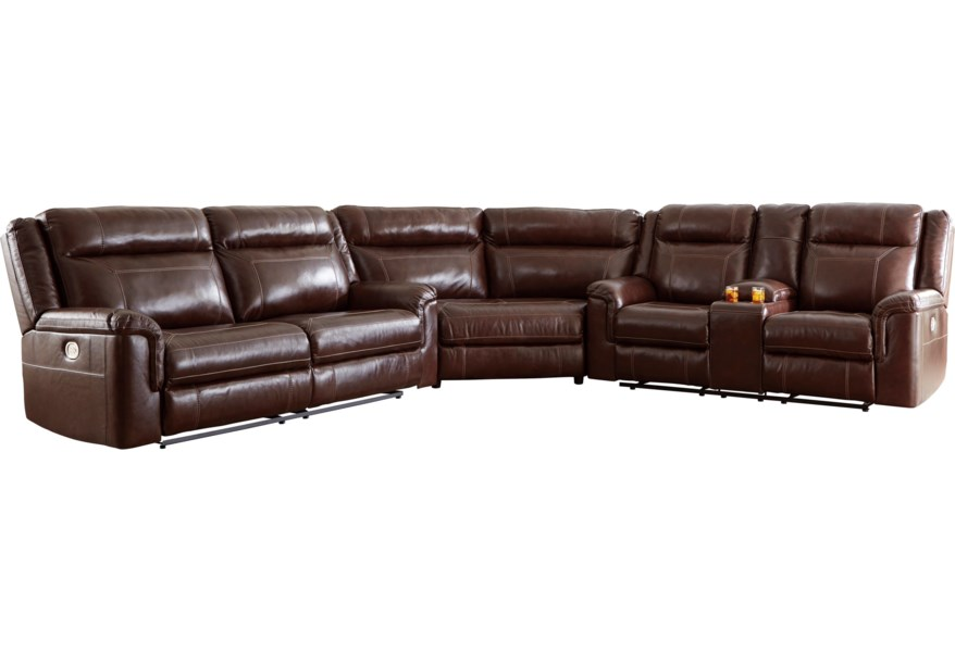 Wyline 3 Piece Power Reclining Sectional by Signature Design by Ashley at  Furniture and ApplianceMart